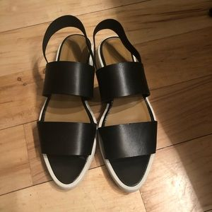 Everlane street leather sandals black size 8